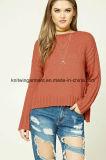 Одежды свитера втулки круглой шеи способа женщин OEM длинние (W18-432)
