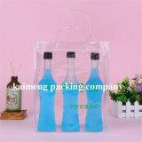 Kundenspezifische einzelne Wein-Plastikbeutel des Entwurfs-Raum-pp. für ein Flaschen-Paket (Weinbeutel)