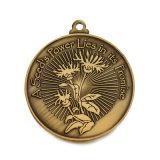 Medaglia d'ottone antica del ricordo dell'università di promozione