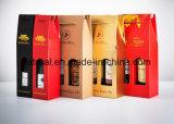 O logotipo feito sob encomenda imprimiu caixas de empacotamento do vinho ondulado com inserção da segurança