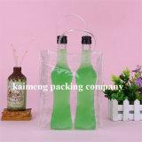 Sacs simples en plastique personnalisés de vin de l'espace libre pp de modèle pour un module de bouteille (sac de vin)