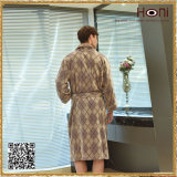 D-017 OEM Service Cheap Men Checks Pattern Bathrobe
