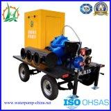 Aanhangwagen van de Pomp van het Water van het Geval van de Dieselmotor van het afval de Ontwaterende Gespleten