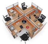 Estação de trabalho transversal moderna da pessoa da mobília de escritório 4 do projeto