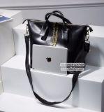 Bolsa Emg5024 do tamanho das mulheres da forma do saco 2017 da senhora Tote do couro do couro de Napa da alta qualidade grande