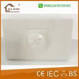 電気スイッチをつけるセリウムによって25years保証のSamll承認されるボタン1gang
