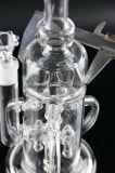 로켓트 Perc Tripple Recycler 반지 유리제 수관
