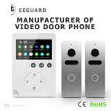 Дверной звонок домашней обеспеченностью памяти 4.3 дюйма видеоего Doorphone внутренной связи