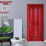 Puerta de madera interior delantera decorativa americana (GSP8-013)