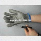 Guante resistente cortado acoplamiento del metal de la capa doble (2353)