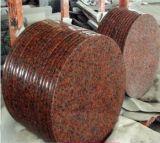 (G562) Partie supérieure du comptoir rouges de granit de bassin de granit d'érable