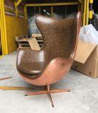 섬유유리 구리 장 PU 가죽을%s 가진 현대 가죽 디자인 계란 의자