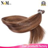 Fusión micro 100% del pelo de Remy del pelo de la queratina del anillo del bucle que inclino