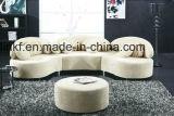 Sofá de couro dos pés novos do metal da sala de visitas do projeto (UL-NSC178)