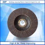 Disque d'aileron de Zirconia de l'acuité T27 de fournisseur de la Chine polissant, support de fibre de verre