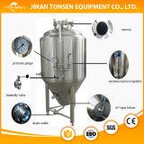 Acero inoxidable del depósito de fermentación de la chaqueta del hoyuelo