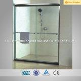 Vidrio claro de la puerta de la ducha de 10m m claro