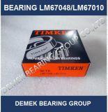 Rolamento de rolo quente Lm67048/Lm67010 do atarraxamento da polegada de Timken do Sell Set6