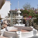 Jardin blanc de Marble Stone Carved Water/Backyard Fountains avec le GV