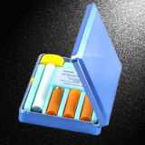 سجائر إلكترونيّة - معدن ماس زرقاء رمز إنهاء