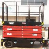 14m hydraulische elektrische selbstangetriebene Scissor Aufzug-Tisch-Ladung-Aufzug