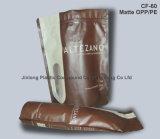 Plastica botttom Valve Tassello Coffee Bag con chiusura lampo