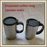 Caneca de café dobro isolada do aço inoxidável da parede (CL1C-M50)