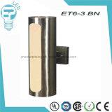 Et6-3シリンダー鋼鉄LED壁ランプ