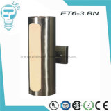 Et6-3 lámpara de pared de acero del cilindro LED