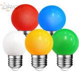 다채로운 백색 빨간 청록색 황색 주황색 분홍색 G45 0.5W 1W E27 LED 색깔 전구