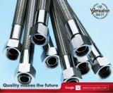Mangueira flexível do Teflon de PTFE com a trança do aço Ss304/306 inoxidável