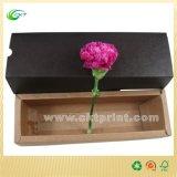 Rectángulo de papel creativo de la joyería/de regalo con el sellado de la hoja (CKT-CB-725)