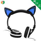Brillante colorido de oreja de gato niños Auriculares