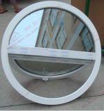 円形か楕円形の形の半分の開始UPVC Windows