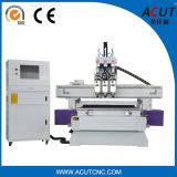 3 스핀들을%s 가진 목공 CNC 기계 (ACUT-1325)