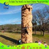 Chidren erwachsene im Freien kletternde Gymnastik-Felsen-Kletternwand