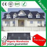 La Chambre de matériau de construction essente le recouvrement de toit enduit par pierre en métal de terre cuite de tuiles de toit
