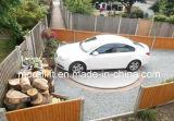 Plataforma giratória em mudança do sentido do carro estreito do espaço de estacionamento