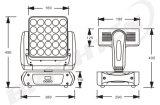 5 * 5 10W Matrix RGBW 4 en 1 LED de cabeza móvil Madpanel Light Wash