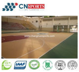 Material de poliuretano resiliente Sports Court Floor of Wood Texture Style