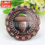 La reproducción múltiple de cobre antigua clásica de la competición del metal del grado de la tapa del regalo de la promoción concede la medalla del metal del honor