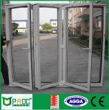 Het Aluminium dat van de Prijs van de fabriek Deur met Aangemaakt Glas vouwt