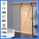 Нутряная сползая дверь амбара шкафа карманная деревянная деревянная (JHK-SK07)