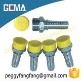 Macho 10411 métrico 24 encaixes hidráulicos da farpa da mangueira do acoplamento masculino do grau (CEL)