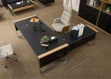Moderne Möbel-hölzerner lederner Büro-Schreibtisch (V30A)