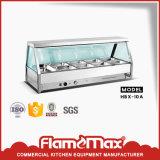 Visualización caliente del alimento de la cacerola del acero inoxidable 8 (vidrio curvado) (HBC-8G)
