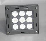온난한 백색 알루미늄 IP65 잘 고정된 9X3w 27W LED 옥외 벽 점화