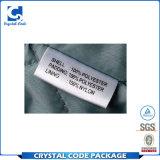 Etiqueta autoadhesiva de nylon rodada aduana del tafetán para la ropa