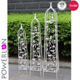 豪華なデザイン鉄3層の金属線の花のプラント立場