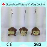 Portatarjetas de Expressin del mono del papel de la oficina de la resina del regalo de la promoción